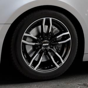 ALUTEC Drive diamant-schwarz frontpoliert Felge mit Reifen mehrfarbig in 17Zoll Alufelge auf silbernem Audi A4 Typ B9 (Avant) ⬇️ mit 15mm Tieferlegung ⬇️ Industriehalle 1 Thumbnail