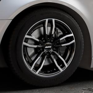 ALUTEC Drive diamant-schwarz frontpoliert Felge mit Reifen mehrfarbig in 17Zoll Alufelge auf silbernem Audi A6 Typ 4G/C7 (Avant) ⬇️ mit 15mm Tieferlegung ⬇️ Industriehalle 1 Thumbnail