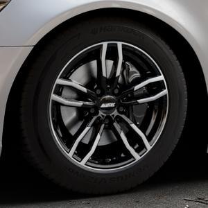 ALUTEC Drive diamant-schwarz frontpoliert Felge mit Reifen mehrfarbig in 17Zoll Alufelge auf silbernem Audi A6 Typ 4G/C7 (Limousine) ⬇️ mit 15mm Tieferlegung ⬇️ Industriehalle 1 Thumbnail