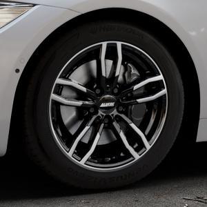 ALUTEC Drive diamant-schwarz frontpoliert Felge mit Reifen mehrfarbig in 17Zoll Alufelge auf silbernem BMW 418d Typ F36 (Gran Coupe) 420d xDrive 420i 428i 435i 430d 440i 418i 430i 425d ⬇️ mit 15mm Tieferlegung ⬇️ Industriehalle 1 Thumbnail