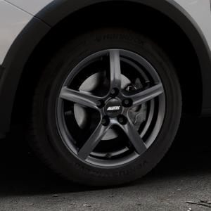 ALUTEC Grip graphit Felge mit Reifen grau in 15Zoll Winterfelge Alufelge auf silbernem Dacia Sandero Stepway II Typ SD ⬇️ mit 15mm Tieferlegung ⬇️ Industriehalle 1 Thumbnail