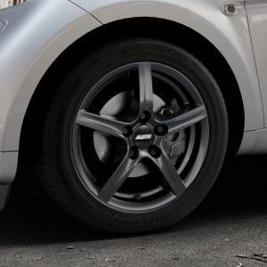 ALUTEC Grip graphit Felge mit Reifen grau in 15Zoll Winterfelge Alufelge auf silbernem Smart Fortwo Coupe III (14-) (453) Cabrio (16-) ⬇️ mit 15mm Tieferlegung ⬇️ Industriehalle 1 Thumbnail