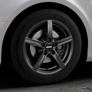 ALUTEC Grip graphit Felge mit Reifen grau in 16Zoll Winterfelge Alufelge auf silbernem Audi A4 Typ 8K2/B8 (Limousine) ⬇️ mit 15mm Tieferlegung ⬇️ Industriehalle 1 Thumbnail