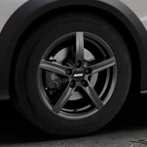 ALUTEC Grip graphit Felge mit Reifen grau in 16Zoll Winterfelge Alufelge auf silbernem Audi A4 Typ 8KH/B8 Allroad ⬇️ mit 15mm Tieferlegung ⬇️ Industriehalle 1 Thumbnail