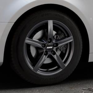 ALUTEC Grip graphit Felge mit Reifen grau in 16Zoll Winterfelge Alufelge auf silbernem Audi A4 Typ B9 (Limousine) ⬇️ mit 15mm Tieferlegung ⬇️ Industriehalle 1 Thumbnail