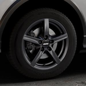 ALUTEC Grip graphit Felge mit Reifen grau in 16Zoll Winterfelge Alufelge auf silbernem Audi Q2 Typ GA ⬇️ mit 15mm Tieferlegung ⬇️ Industriehalle 1 Thumbnail