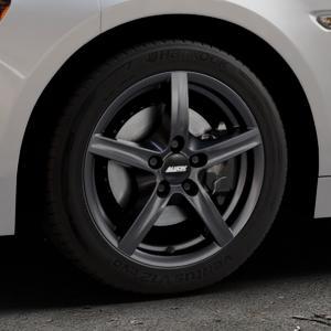 ALUTEC Grip graphit Felge mit Reifen grau in 16Zoll Winterfelge Alufelge auf silbernem Fiat 124 Spider Typ NF ⬇️ mit 15mm Tieferlegung ⬇️ Industriehalle 1 Thumbnail