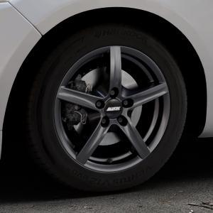 ALUTEC Grip graphit Felge mit Reifen grau in 16Zoll Winterfelge Alufelge auf silbernem Ford Mondeo IV Limousine Typ BA7 Turnier Fließheck ⬇️ mit 15mm Tieferlegung ⬇️ Industriehalle 1 Thumbnail