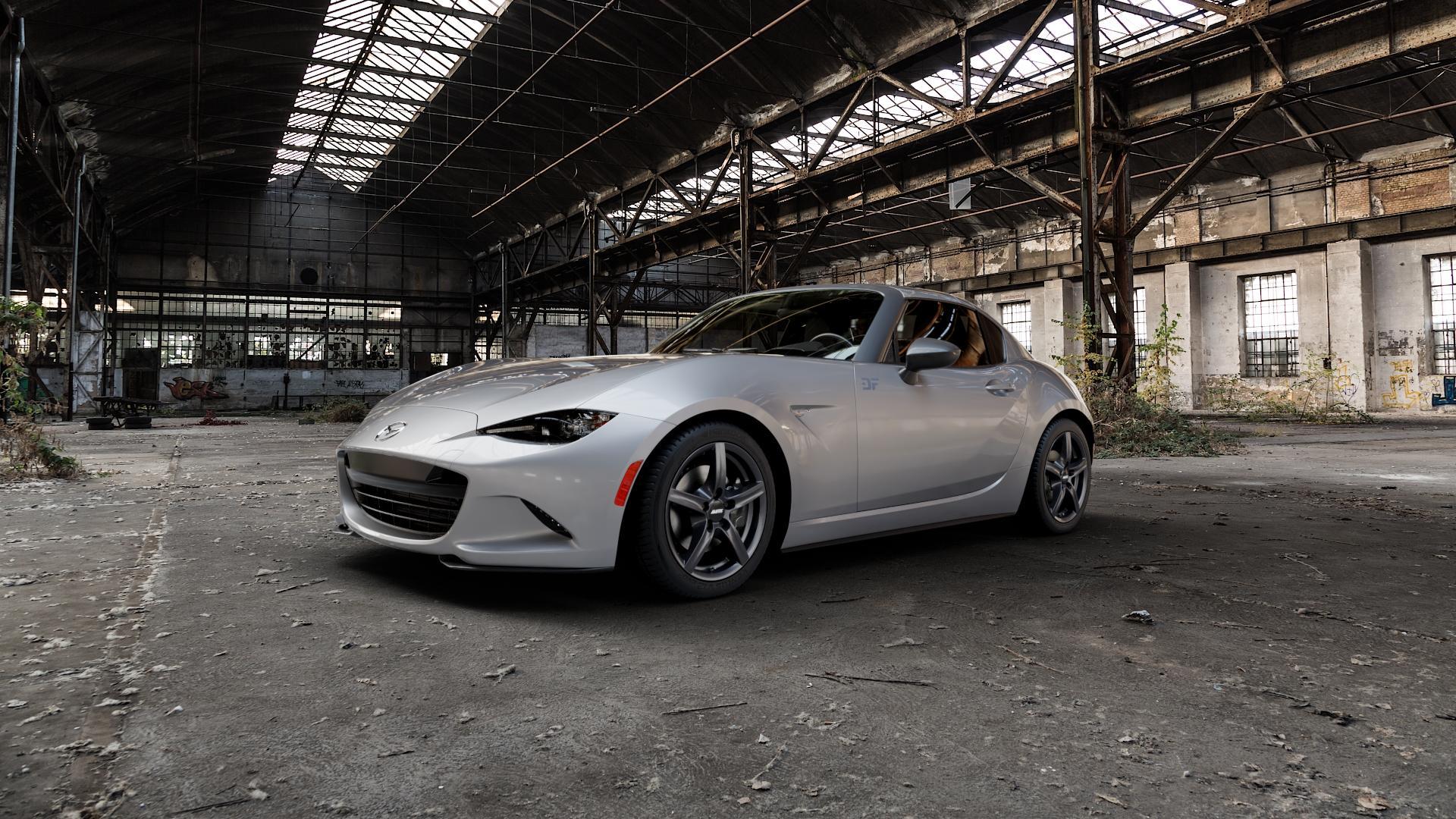 ALUTEC Grip graphit Felge mit Reifen grau in 16Zoll Winterfelge Alufelge auf silbernem Mazda MX-5 IV RF (ND) ⬇️ mit 15mm Tieferlegung ⬇️ Industriehalle 1 Camera_000