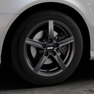 ALUTEC Grip graphit Felge mit Reifen grau in 16Zoll Winterfelge Alufelge auf silbernem Mercedes E-Klasse Typ W211 Limousine ⬇️ mit 15mm Tieferlegung ⬇️ Industriehalle 1 Thumbnail