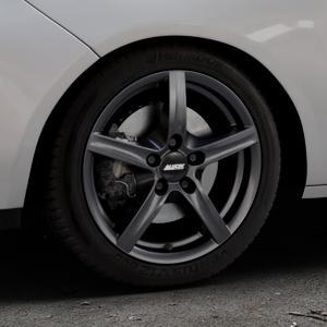 ALUTEC Grip graphit Felge mit Reifen grau in 16Zoll Winterfelge Alufelge auf silbernem Opel Adam ⬇️ mit 15mm Tieferlegung ⬇️ Industriehalle 1 Thumbnail