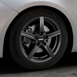 ALUTEC Grip graphit Felge mit Reifen grau in 16Zoll Winterfelge Alufelge auf silbernem Peugeot 308 II Typ L Facelift ⬇️ mit 15mm Tieferlegung ⬇️ Industriehalle 1 Thumbnail