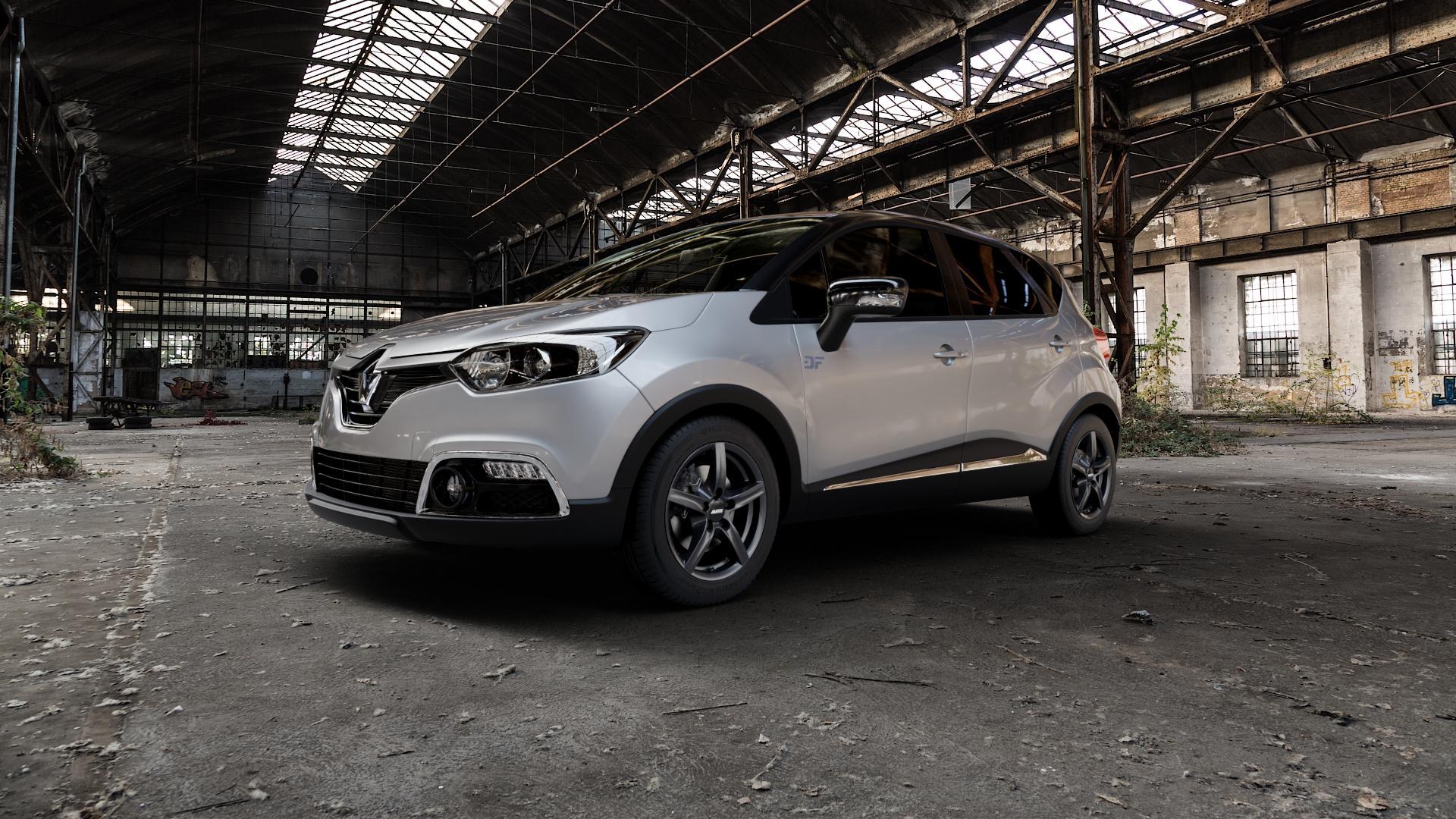 ALUTEC Grip graphit Felge mit Reifen grau in 16Zoll Winterfelge Alufelge auf silbernem Renault Captur Typ R XMOD Facelift ⬇️ mit 15mm Tieferlegung ⬇️ Industriehalle 1 Camera_000