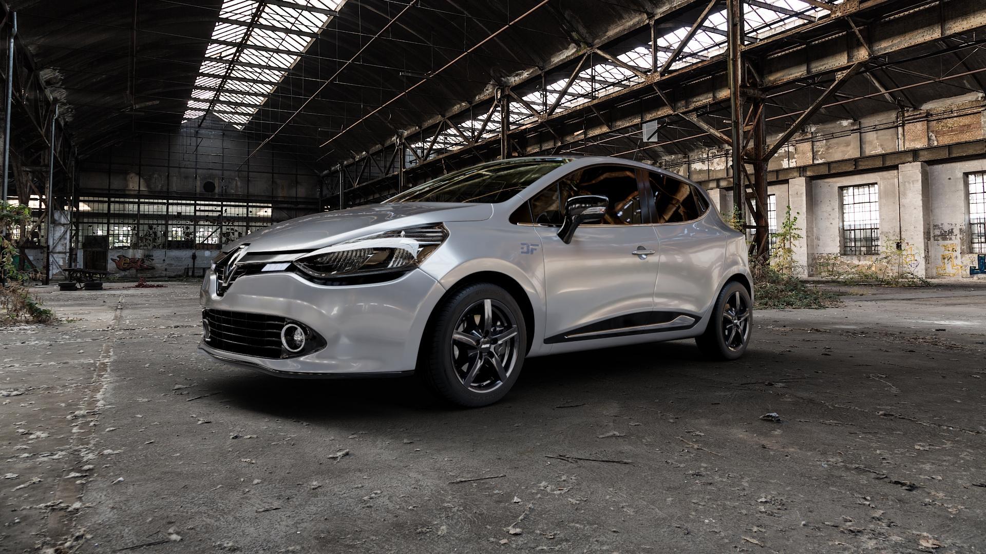 ALUTEC Grip graphit Felge mit Reifen grau in 16Zoll Winterfelge Alufelge auf silbernem Renault Clio IV Typ R ⬇️ mit 15mm Tieferlegung ⬇️ Industriehalle 1 Camera_000