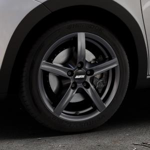 ALUTEC Grip graphit Felge mit Reifen grau in 16Zoll Winterfelge Alufelge auf silbernem Renault Twingo III Typ AH ⬇️ mit 15mm Tieferlegung ⬇️ Industriehalle 1 Thumbnail