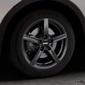 ALUTEC Grip graphit Felge mit Reifen grau in 16Zoll Winterfelge Alufelge auf silbernem Ssangyong Tivoli Typ XK ⬇️ mit 15mm Tieferlegung ⬇️ Industriehalle 1 Thumbnail