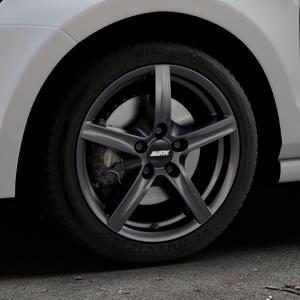 ALUTEC Grip graphit Felge mit Reifen grau in 16Zoll Winterfelge Alufelge auf silbernem Volkswagen (VW) Polo V Typ 6C 1,8l GTI 141kW (192 PS) ⬇️ mit 15mm Tieferlegung ⬇️ Industriehalle 1 Thumbnail