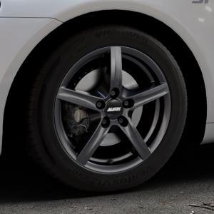 ALUTEC Grip graphit Felge mit Reifen grau in 16Zoll Winterfelge Alufelge auf silbernem Volkswagen (VW) Scirocco III Typ 13 ⬇️ mit 15mm Tieferlegung ⬇️ Industriehalle 1 Thumbnail
