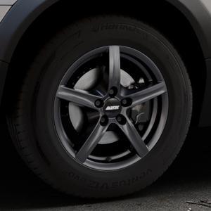 ALUTEC Grip graphit Felge mit Reifen grau in 16Zoll Winterfelge Alufelge auf silbernem Volvo XC70 II Typ B ⬇️ mit 15mm Tieferlegung ⬇️ Industriehalle 1 Thumbnail