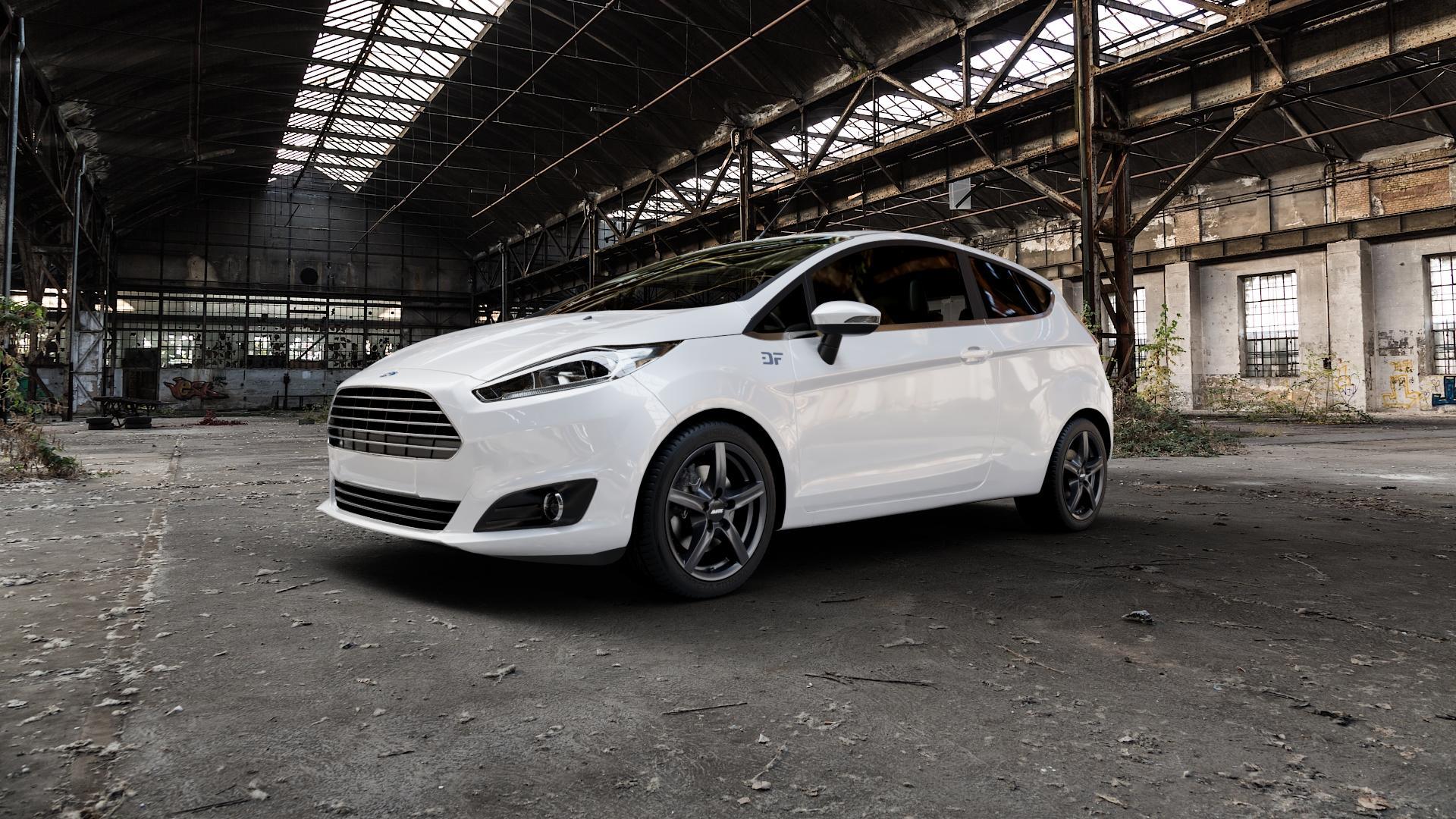 ALUTEC Grip graphit Felge mit Reifen grau in 16Zoll Winterfelge Alufelge auf weissem Ford Fiesta VI Typ JA8 Facelift ⬇️ mit 15mm Tieferlegung ⬇️ Industriehalle 1 Camera_000