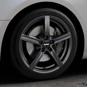 ALUTEC Grip graphit Felge mit Reifen grau in 17Zoll Winterfelge Alufelge auf silbernem Audi A5 Typ B9 (Coupé) (Cabriolet) ⬇️ mit 15mm Tieferlegung ⬇️ Industriehalle 1 Thumbnail