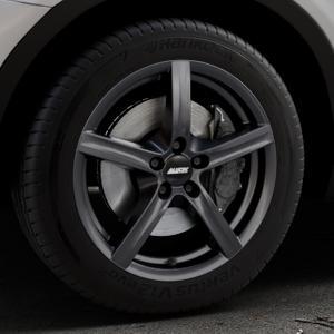 ALUTEC Grip graphit Felge mit Reifen grau in 17Zoll Winterfelge Alufelge auf silbernem BMW X3 Typ F25 (X3, X-N1) ⬇️ mit 15mm Tieferlegung ⬇️ Industriehalle 1 Thumbnail