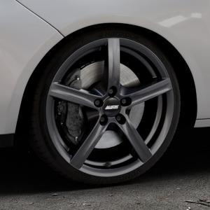 ALUTEC Grip graphit Felge mit Reifen grau in 17Zoll Winterfelge Alufelge auf silbernem Opel Adam ⬇️ mit 15mm Tieferlegung ⬇️ Industriehalle 1 Thumbnail