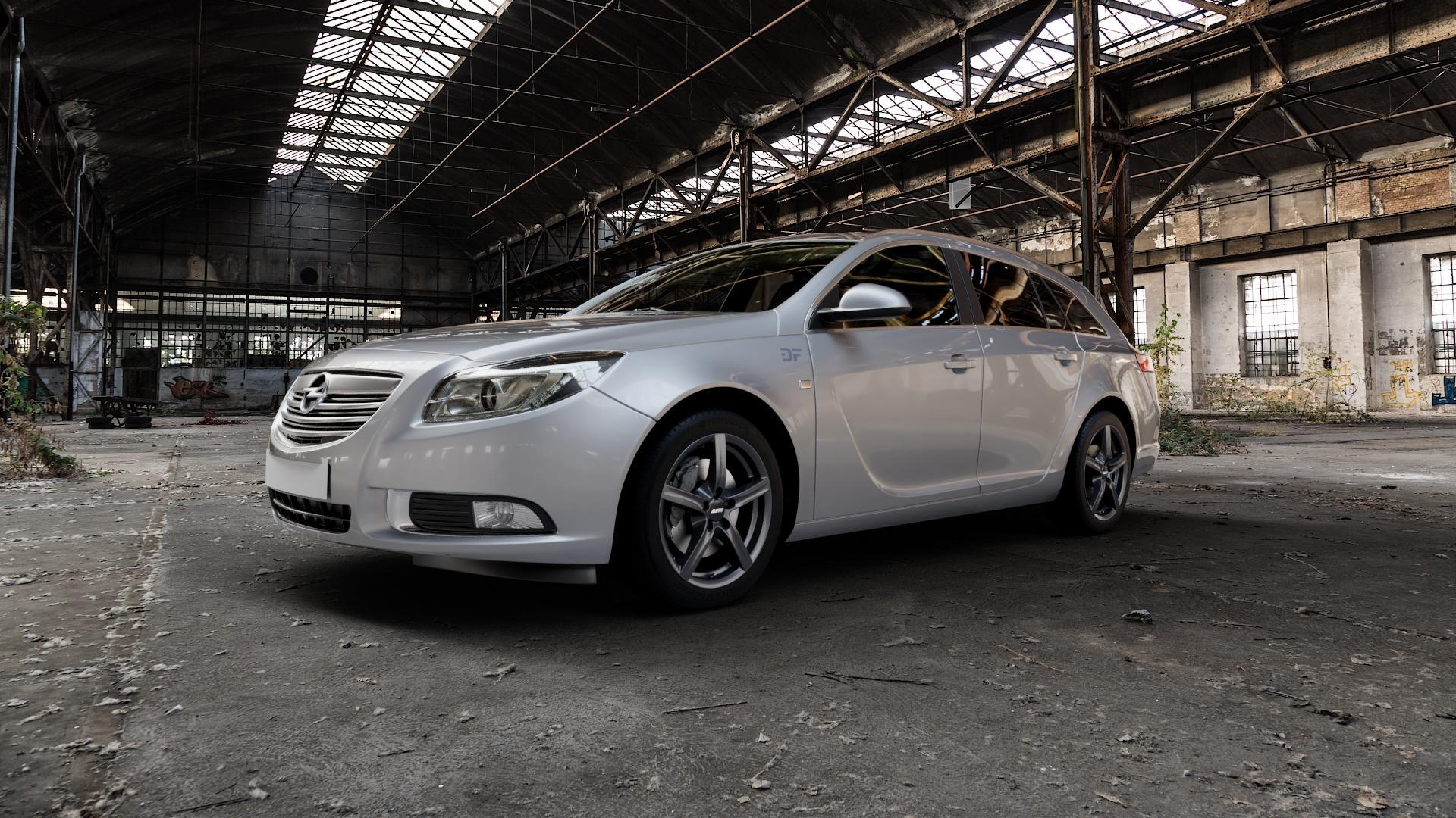 ALUTEC Grip graphit Felge mit Reifen grau in 17Zoll Winterfelge Alufelge auf silbernem Opel Insignia I Sports Tourer Facelift ⬇️ mit 15mm Tieferlegung ⬇️ Industriehalle 1 Camera_000