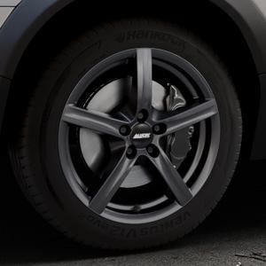 ALUTEC Grip graphit Felge mit Reifen grau in 17Zoll Winterfelge Alufelge auf silbernem Volvo XC70 II Typ B ⬇️ mit 15mm Tieferlegung ⬇️ Industriehalle 1 Thumbnail
