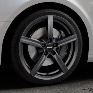 ALUTEC Grip graphit Felge mit Reifen grau in 18Zoll Winterfelge Alufelge auf silbernem Audi A4 Typ 8K2/B8 (Limousine) ⬇️ mit 15mm Tieferlegung ⬇️ Industriehalle 1 Thumbnail