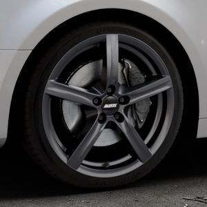 ALUTEC Grip graphit Felge mit Reifen grau in 18Zoll Winterfelge Alufelge auf silbernem Audi A4 Typ B9 (Limousine) ⬇️ mit 15mm Tieferlegung ⬇️ Industriehalle 1 Thumbnail