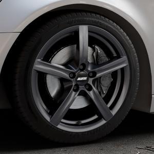 ALUTEC Grip graphit Felge mit Reifen grau in 18Zoll Winterfelge Alufelge auf silbernem Audi A6 Typ 4G/C7 (Avant) ⬇️ mit 15mm Tieferlegung ⬇️ Industriehalle 1 Thumbnail