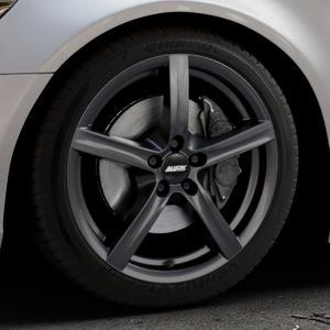 ALUTEC Grip graphit Felge mit Reifen grau in 18Zoll Winterfelge Alufelge auf silbernem Audi A6 Typ 4G/C7 (Limousine) ⬇️ mit 15mm Tieferlegung ⬇️ Industriehalle 1 Thumbnail
