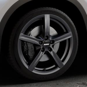 ALUTEC Grip graphit Felge mit Reifen grau in 18Zoll Winterfelge Alufelge auf silbernem BMW X1 Typ F48 (UKL-L) (F1X) ⬇️ mit 15mm Tieferlegung ⬇️ Industriehalle 1 Thumbnail