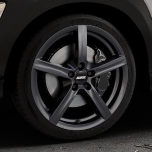 ALUTEC Grip graphit Felge mit Reifen grau in 18Zoll Winterfelge Alufelge auf silbernem Hyundai Kona Typ OS ⬇️ mit 15mm Tieferlegung ⬇️ Industriehalle 1 Thumbnail