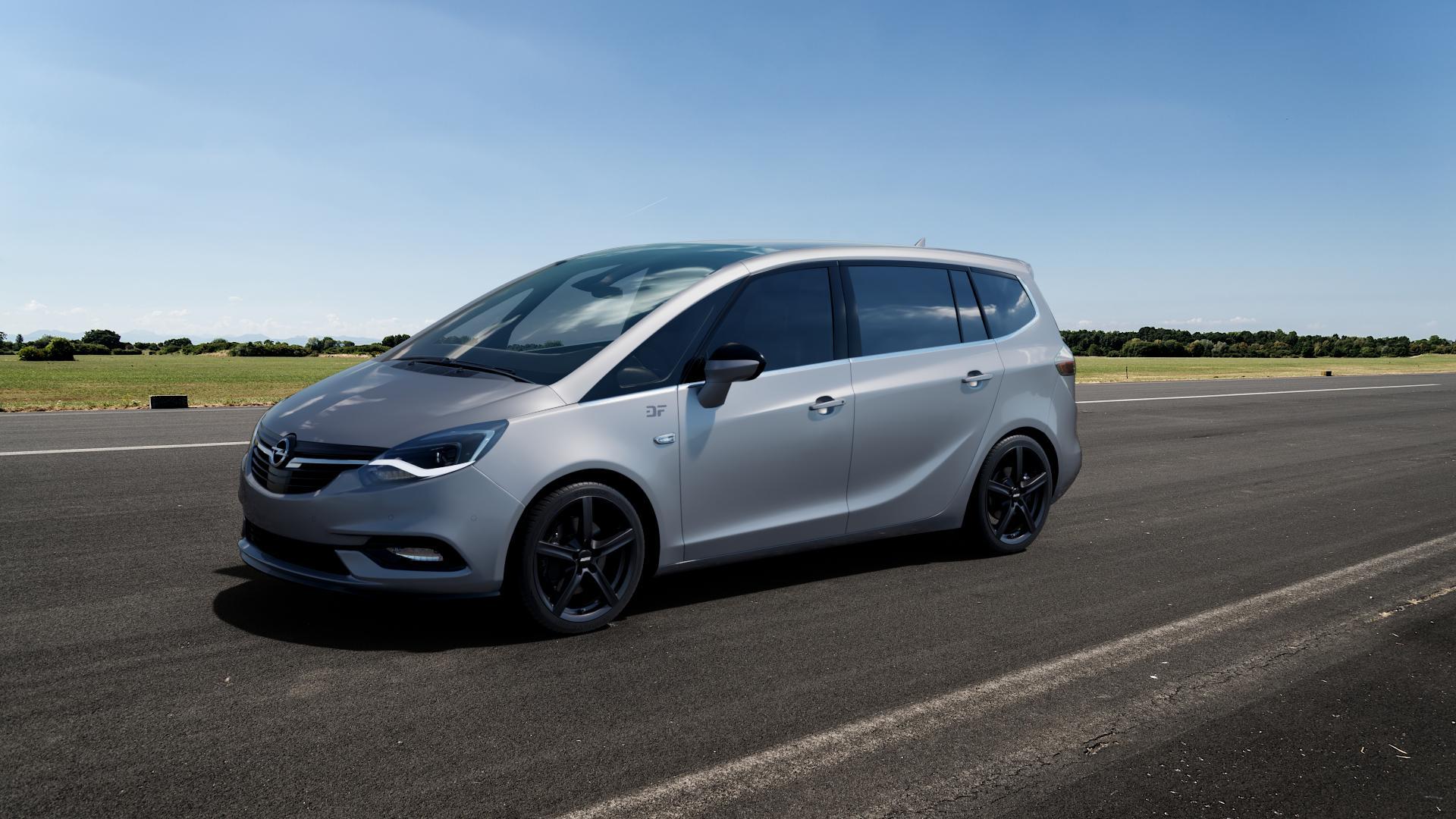 ALUTEC Grip graphit Felge mit Reifen grau in 18Zoll Winterfelge Alufelge auf silbernem Opel Zafira C Tourer Facelift ⬇️ mit 15mm Tieferlegung ⬇️ Big_Vehicle_Airstrip_1 Frontansicht_1