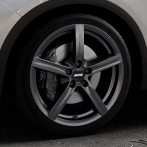 ALUTEC Grip graphit Felge mit Reifen grau in 18Zoll Winterfelge Alufelge auf silbernem Volkswagen (VW) T-Roc ⬇️ mit 15mm Tieferlegung ⬇️ Industriehalle 1 Thumbnail