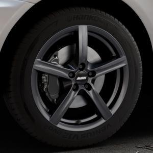 ALUTEC Grip graphit Felge mit Reifen grau in 18Zoll Winterfelge Alufelge auf silbernem Volvo XC60 Typ D ⬇️ mit 15mm Tieferlegung ⬇️ Industriehalle 1 Thumbnail