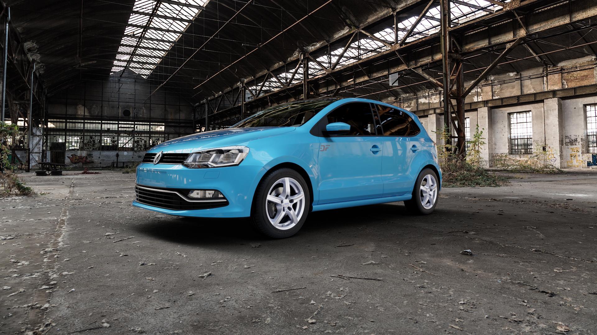 ALUTEC Grip polar-silber Felge mit Reifen in 15Zoll Winterfelge Alufelge auf hellblau Volkswagen (VW) Polo V Typ 6C 1,0l 44kW (60 PS) 55kW (75 1,2l TSI 66kW (90 81kW (110 1,4l TDI 77kW (105 110kW (150 70kW (95 ⬇️ mit 15mm Tieferlegung ⬇️ Industriehalle 1 Camera_000