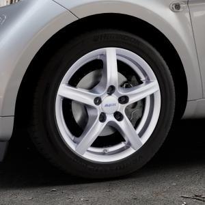 ALUTEC Grip polar-silber Felge mit Reifen in 15Zoll Winterfelge Alufelge auf silbernem Smart Fortwo Coupe III (14-) (453) Cabrio (16-) ⬇️ mit 15mm Tieferlegung ⬇️ Industriehalle 1 Thumbnail