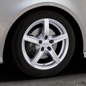 ALUTEC Grip polar-silber Felge mit Reifen in 16Zoll Winterfelge Alufelge auf silbernem Audi A3 Typ 8V (Cabriolet) ⬇️ mit 15mm Tieferlegung ⬇️ Industriehalle 1 Thumbnail