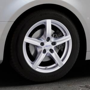 ALUTEC Grip polar-silber Felge mit Reifen in 16Zoll Winterfelge Alufelge auf silbernem Audi A4 Typ B9 (Limousine) ⬇️ mit 15mm Tieferlegung ⬇️ Industriehalle 1 Thumbnail