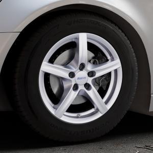 ALUTEC Grip polar-silber Felge mit Reifen in 16Zoll Winterfelge Alufelge auf silbernem Audi A6 Typ 4G/C7 (Avant) ⬇️ mit 15mm Tieferlegung ⬇️ Industriehalle 1 Thumbnail