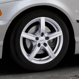 ALUTEC Grip polar-silber Felge mit Reifen in 16Zoll Winterfelge Alufelge auf silbernem BMW 316i Typ E46 (Limousine) 318i 320i 323i 328i 325i 330d 330xd 330i 318d 320d 325xi 330xi ⬇️ mit 15mm Tieferlegung ⬇️ Industriehalle 1 Thumbnail