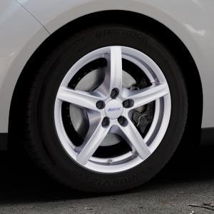 ALUTEC Grip polar-silber Felge mit Reifen in 16Zoll Winterfelge Alufelge auf silbernem Ford C-Max II Typ DXA (10->) ⬇️ mit 15mm Tieferlegung ⬇️ Industriehalle 1 Thumbnail