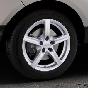 ALUTEC Grip polar-silber Felge mit Reifen in 16Zoll Winterfelge Alufelge auf silbernem Ford EcoSport Typ JK8 Facelift ⬇️ mit 15mm Tieferlegung ⬇️ Industriehalle 1 Thumbnail