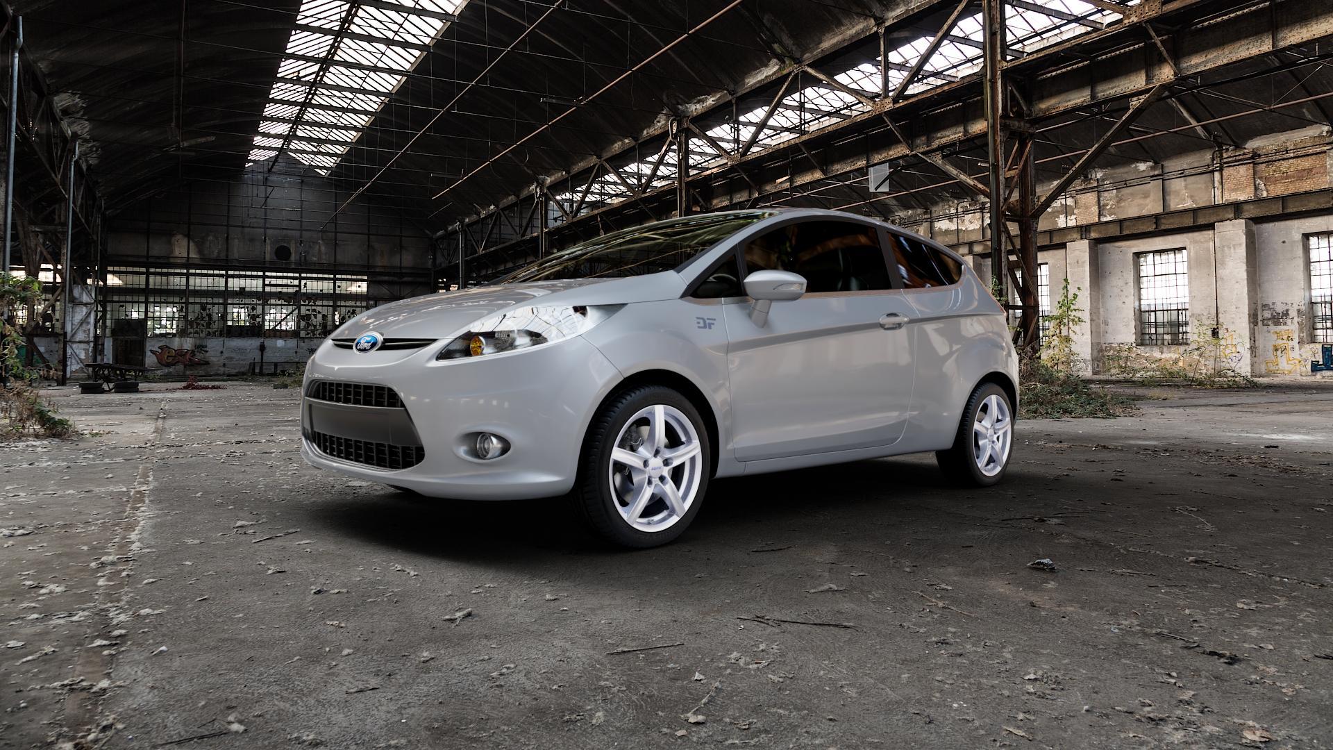 ALUTEC Grip polar-silber Felge mit Reifen in 16Zoll Winterfelge Alufelge auf silbernem Ford Fiesta VI Typ JA8 ⬇️ mit 15mm Tieferlegung ⬇️ Industriehalle 1 Camera_000