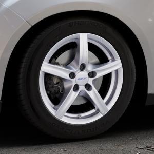 ALUTEC Grip polar-silber Felge mit Reifen in 16Zoll Winterfelge Alufelge auf silbernem Ford Focus III Typ DYB Facelift (Schrägheck) ⬇️ mit 15mm Tieferlegung ⬇️ Industriehalle 1 Thumbnail