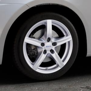 ALUTEC Grip polar-silber Felge mit Reifen in 16Zoll Winterfelge Alufelge auf silbernem Suzuki Swift V Typ NZ FZ ⬇️ mit 15mm Tieferlegung ⬇️ Industriehalle 1 Thumbnail