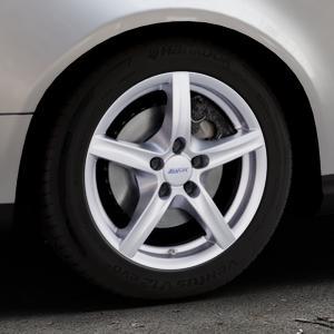 ALUTEC Grip polar-silber Felge mit Reifen in 16Zoll Winterfelge Alufelge auf silbernem Volkswagen (VW) Passat 3C/B6 Variant ⬇️ mit 15mm Tieferlegung ⬇️ Industriehalle 1 Thumbnail